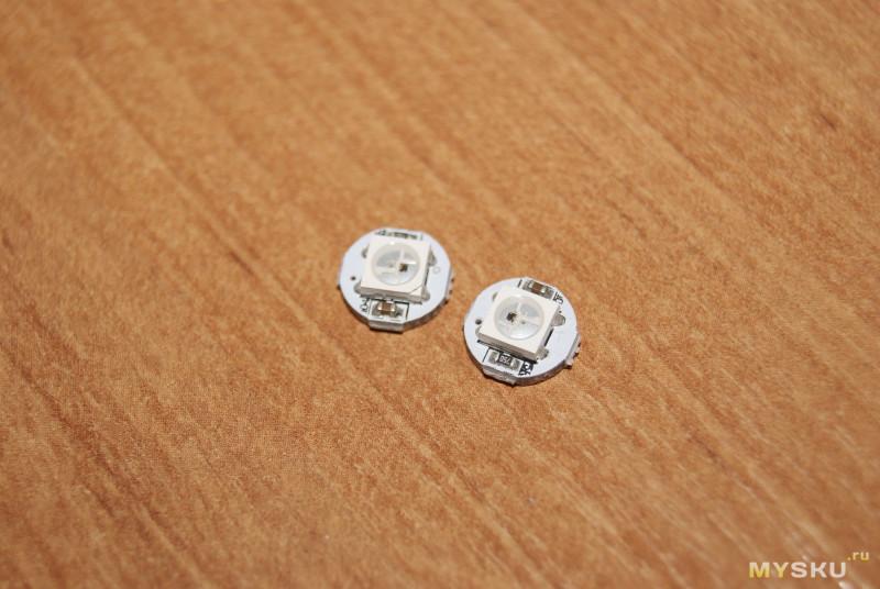 Акриловые матовые бусины. Рассеиватели для гирлянды на WS2812B
