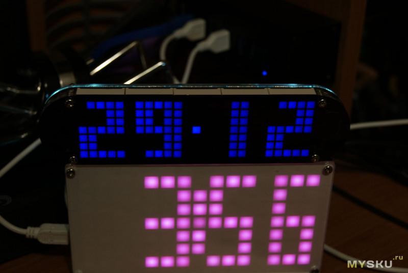 DIY матричные часы с кучей настроек и неплохим функционалом. Наконец-то!