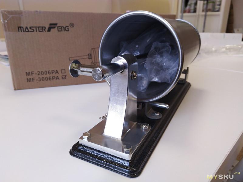 Горизонтальный колбасный шприц с вертикальной загрузкой на 3кг - MasterFeng MF-3006PA
