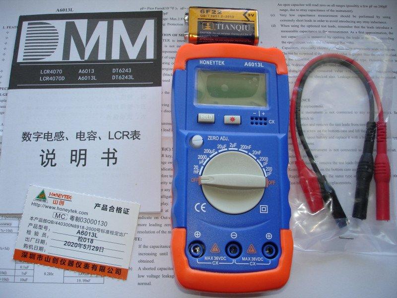 Измеритель ёмкости конденсаторов HONEYTEK A6013L
