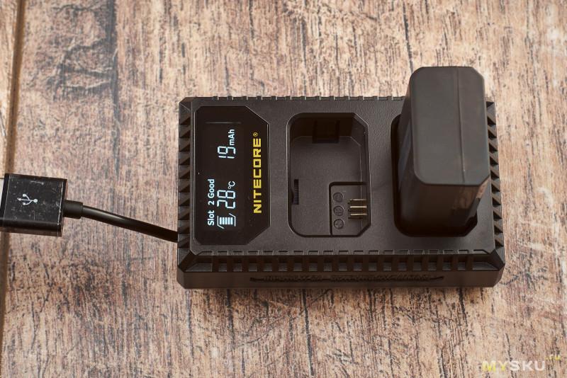 Зарядное устройство Nitecore USN1 для Sony NP-FW50 на два слота
