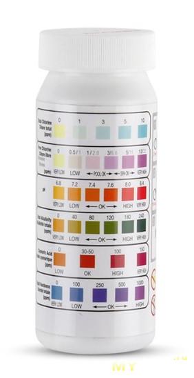 Тест-полоски качества воды 6в1