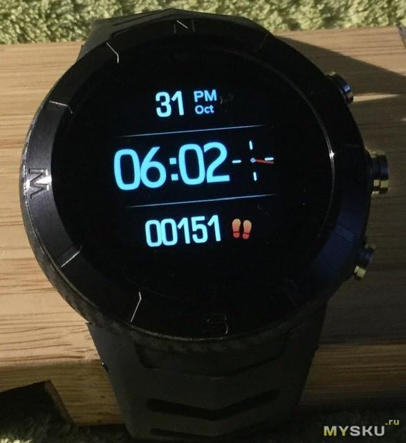 DT No.1 DT08 -  умные часы для активного  образа жизни с барометром, высотомером и компасом