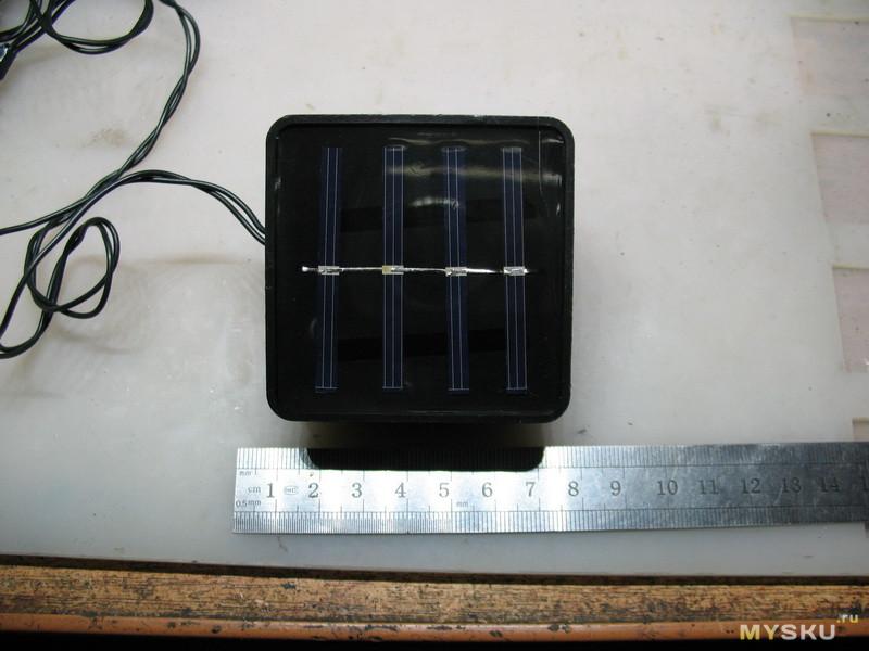 Простая гирлянда. Новогоднее настроение на солнечных батарейках