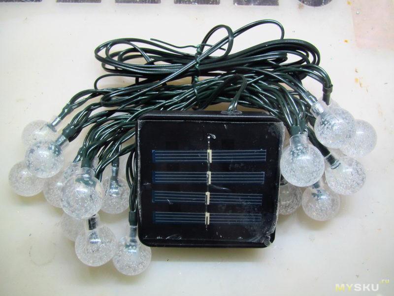 Еще одна гирлянда на солнечной батарее и её возможная доработка