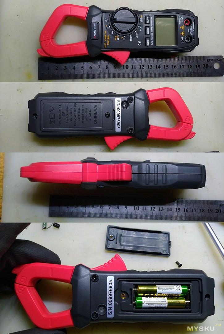 Aneng ST209 - компактные клещи постоянного и переменного тока до 600А