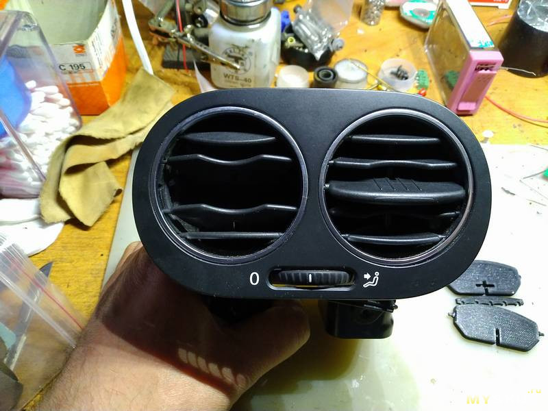 Дефлектор отопителя для VW Golf. Ремонтируем при помощи принтера
