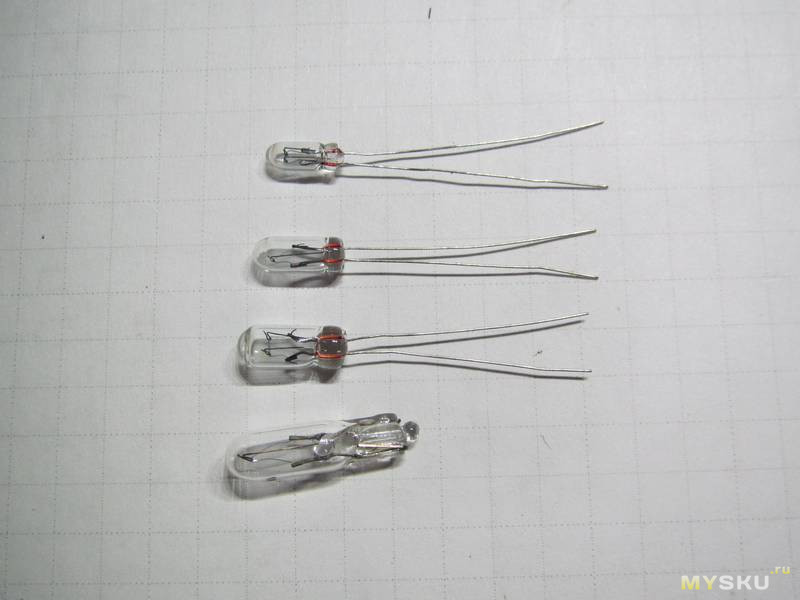 Миниатюрные лампы накаливания 12В, диаметром 3, 4, 5мм. Мини-мультиобзор