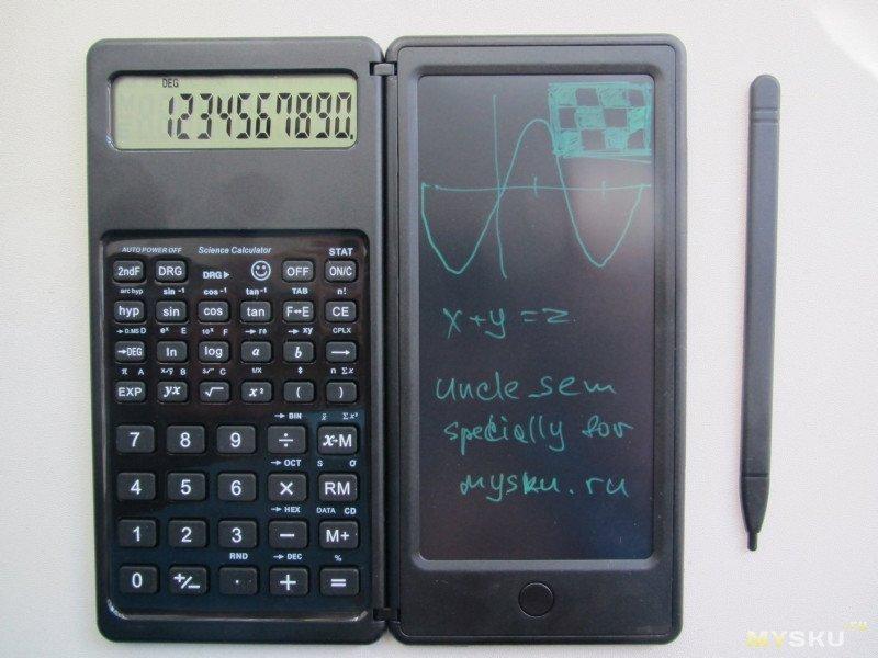 """""""Научный"""" 10-разрядный калькулятор с планшетом для записей. Удачный гибрид. Миниобзор"""