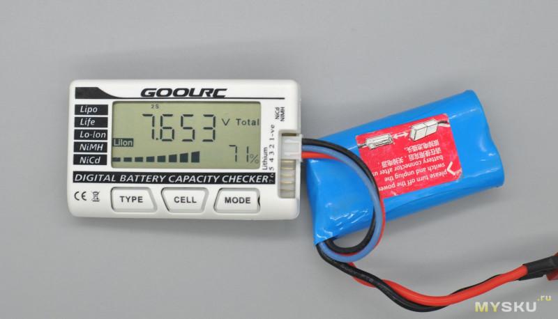 <span>Простой тестер модельных аккумуляторов GoolRC 7 ячеек</span>