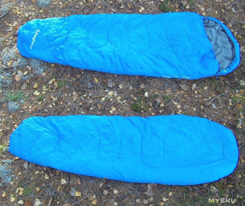 ♔ KingCamp Спальный мешок TRECK 300 и самонадувающийся коврик KM3582
