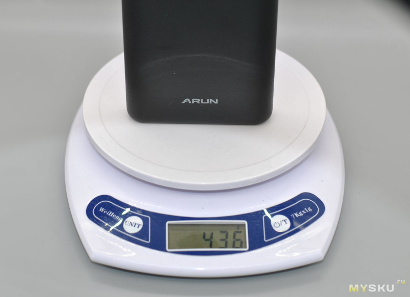 Крупный внешний аккумулятор ARUN 20000 мАч