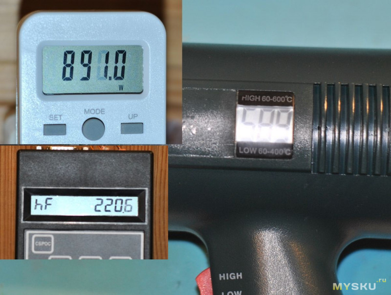 Технический фен 1800 Вт с регулировкой температуры