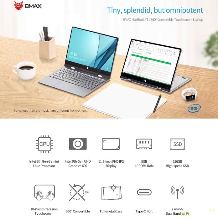 Ноутбук-трансформер BMAX Y11 за $299.99