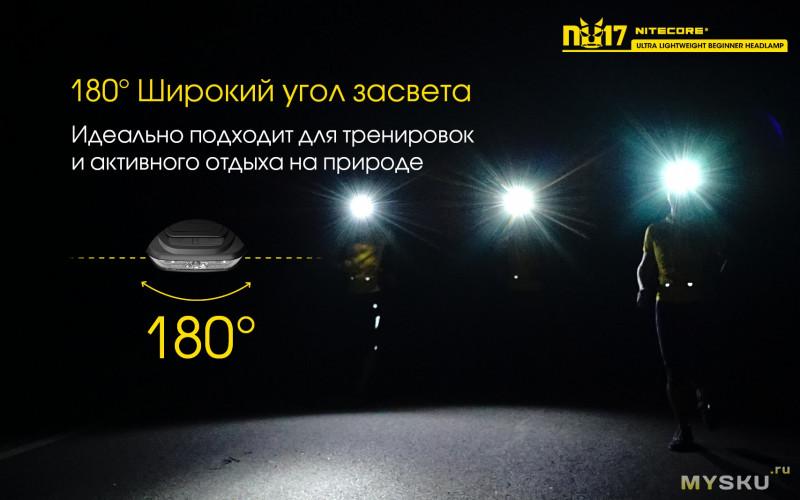 Налобный фонарик Nitecore NU17 XP - G2 за $20.78