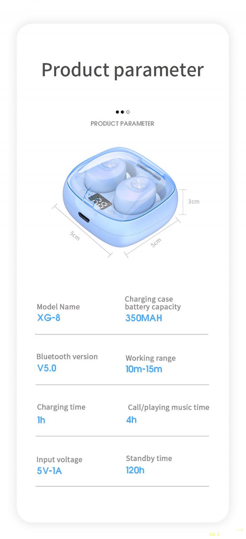 Беспроводные наушники Tellunow XG8 за US $9.65