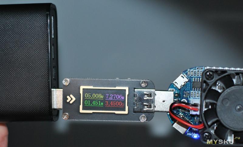 USB тестер FNIRSI FNB28 за US$6.99 + доставка