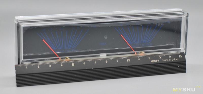 Стрелочный индикатор для усилителя мощности. VU meter P-78WTC-BGB-S106
