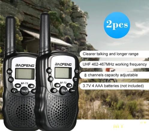 Пара раций Baofeng BF-T3 за $11.11+$0.71 доставка в РФ