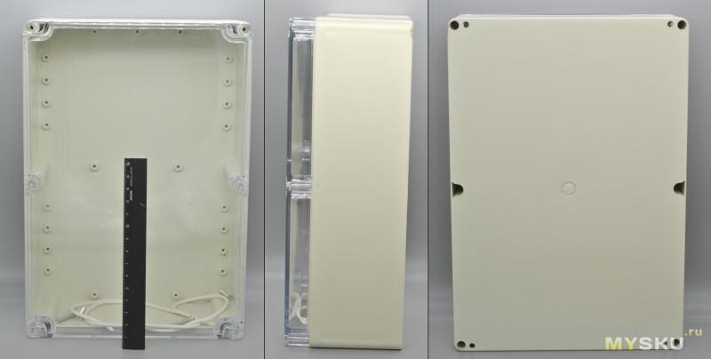 Пластиковый корпус с прозрачной крышкой 263x185x95 мм | Делаем музыкальный центр из 90х