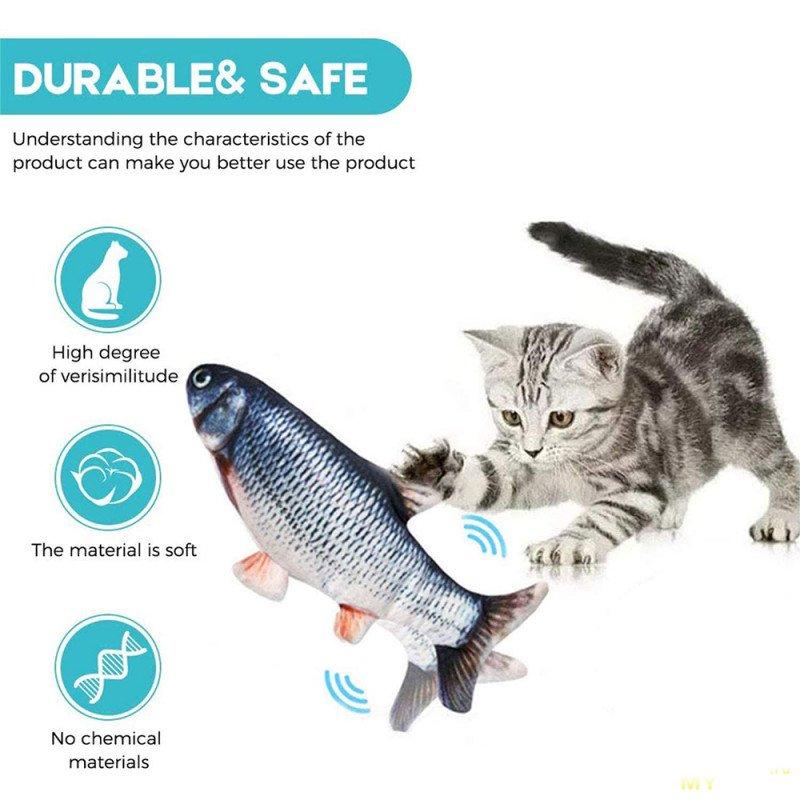 Игрушка для кота - электрическая рыба с мятой (.10)