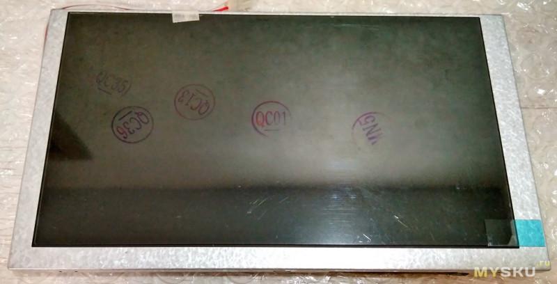 """Экран 6.2"""" для китайской 2 DIN магнитолы"""