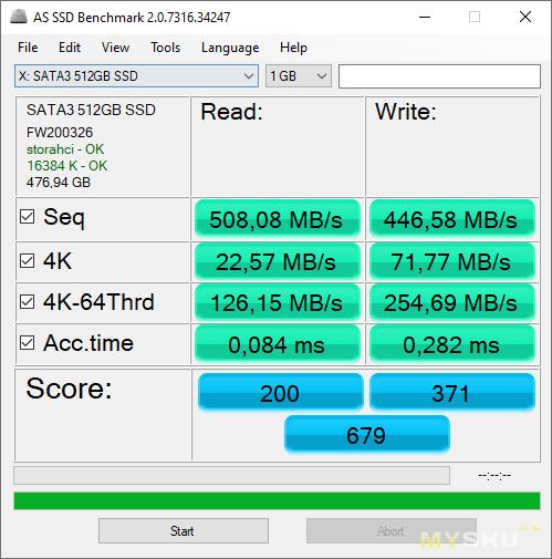 SSD накопитель KingDian S370 на 512Гб