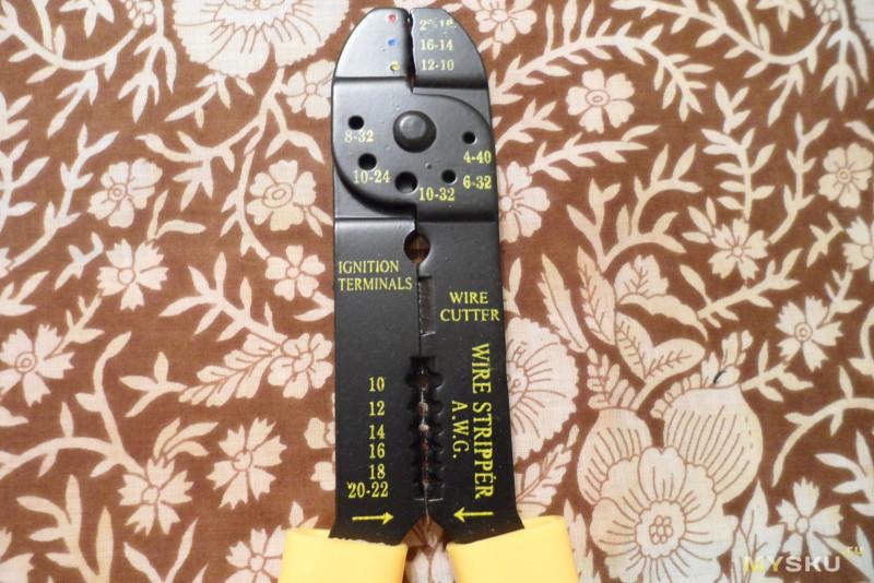 Набор начинающего электрика: кримпер + 100 коннекторов