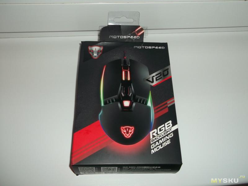 """Проводная-игровая мышка с подсветкой """"MOTOSPEED V20 Leopard"""". Какую недорогую мышку выбрать?"""