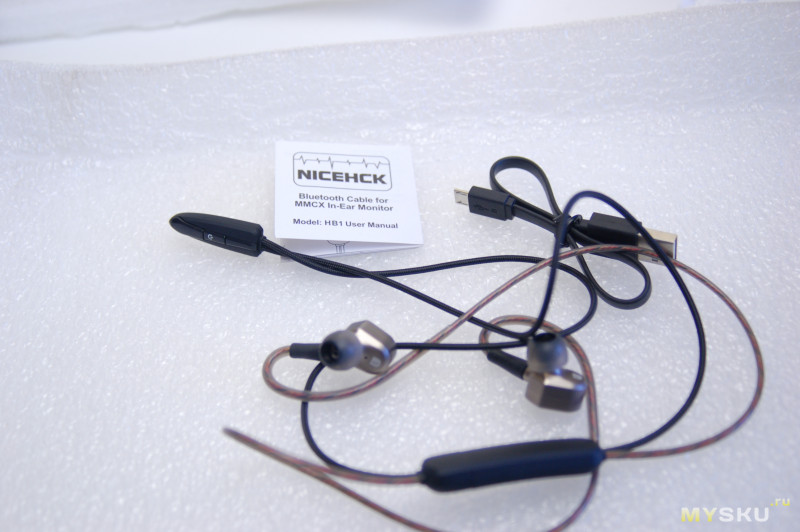 MMCX Bluetooth модуль Nicehck HB1 | превращаем проводные MMCX наушники в беспроводные, ну почти.