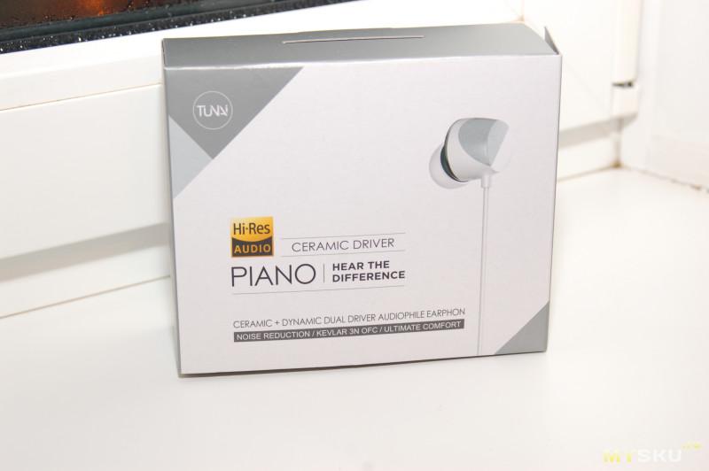 """Наушники с керамическим и динамическим излучателем """"Tunai Piano"""""""