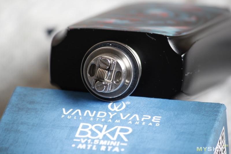 Электронная сигарета Vandy Vape Berserker V1.5 Mini MTL RTA   лучший недорогой MTL бак? Мешаю дешевую табачную жидкость.
