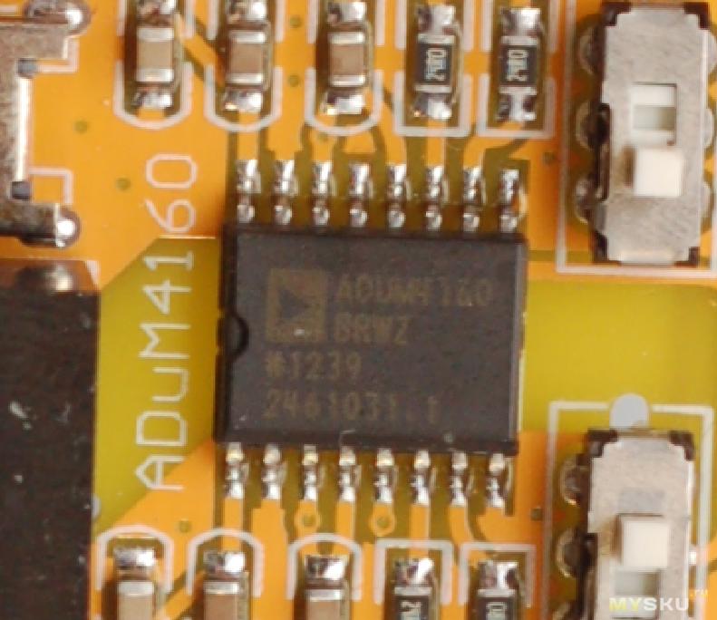 Внешняя звуковая карта Ugreen и USB изолятор Nobsound ADuM4160 (гальваническая развязка)