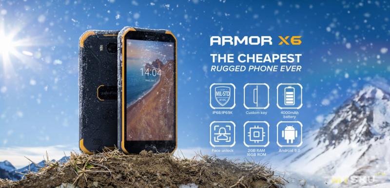 Смартфон Ulefone Armor X6 за $69.99