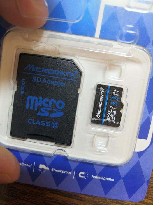 Карта памяти MicroSD Microdata 32GB. Пять.