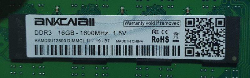 Оперативная память 16GB DDR3 - только для AMD