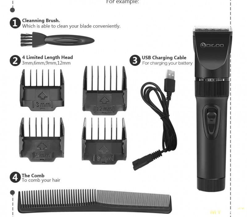 Купон дающий скидку 16$ на триммер Digoo BB-T2 USB Ceramic .