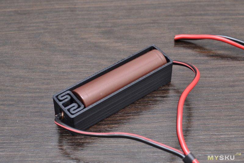 3D печатные держатели для аккумуляторов и батарей - питание без единой капли припоя