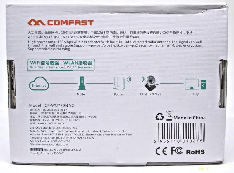 USB WiFi адаптер с направленной антенной COMFAST CF-WU770N