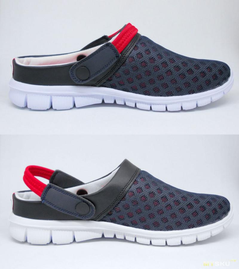 Легкие дышащие туфли с застежкой по типу кроксов