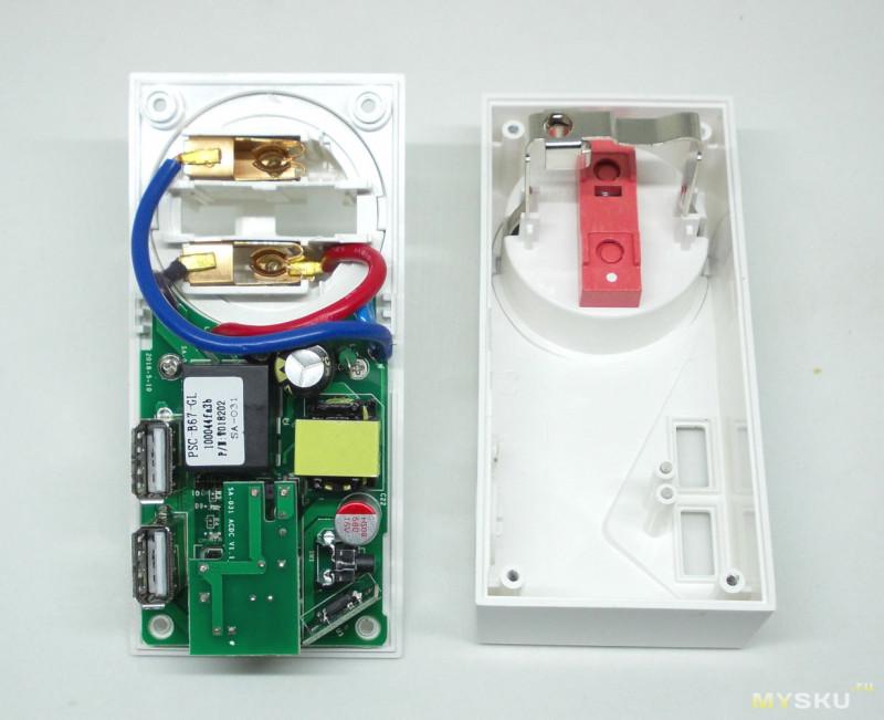 Умная WiFi розетка с двумя USB-портами для зарядки