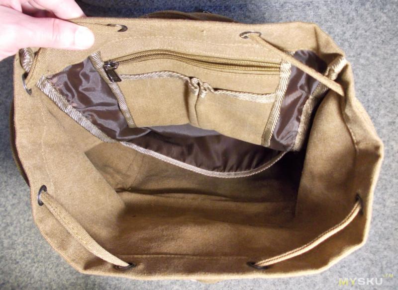 Вместительный женский холщовый рюкзак в стиле кэжуал