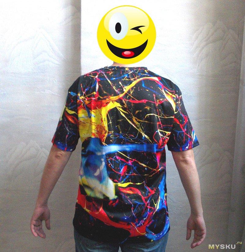 Мужская футболка с цветным принтом – все познается в сравнении