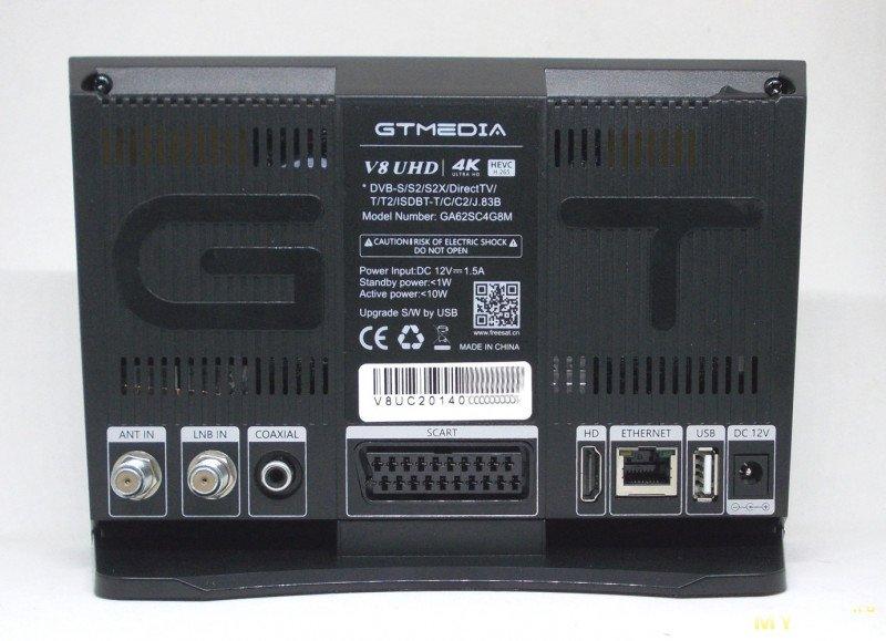 Тюнер спутникового и эфирного цифрового ТВ GTMEDIA V8 UHD с поддержкой Интернет, USB и многого другого