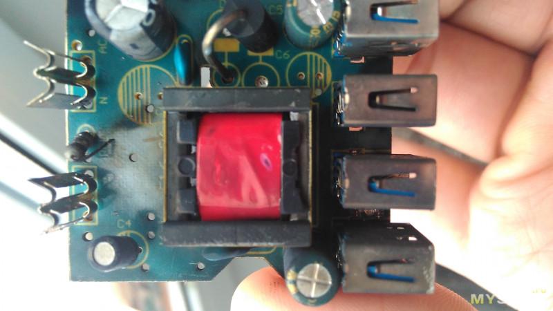 """4USB 5V """"5.1A"""" зарядное устройство, купленное по акции. Попытка и рыбку съесть..."""