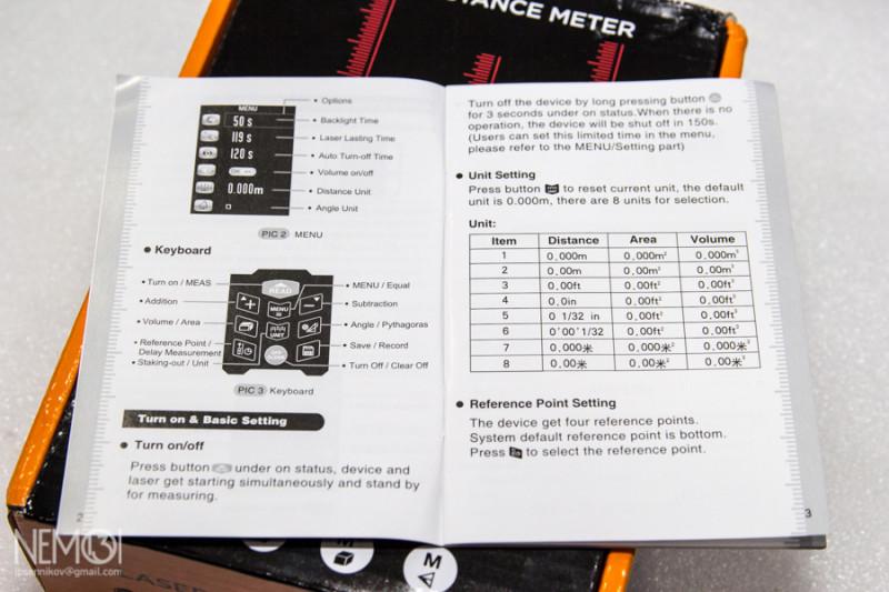 Лазерный дальномер SNDWAY SW-S50. Небольшой обзор и сравнение с народным SNDWAY SW-T60