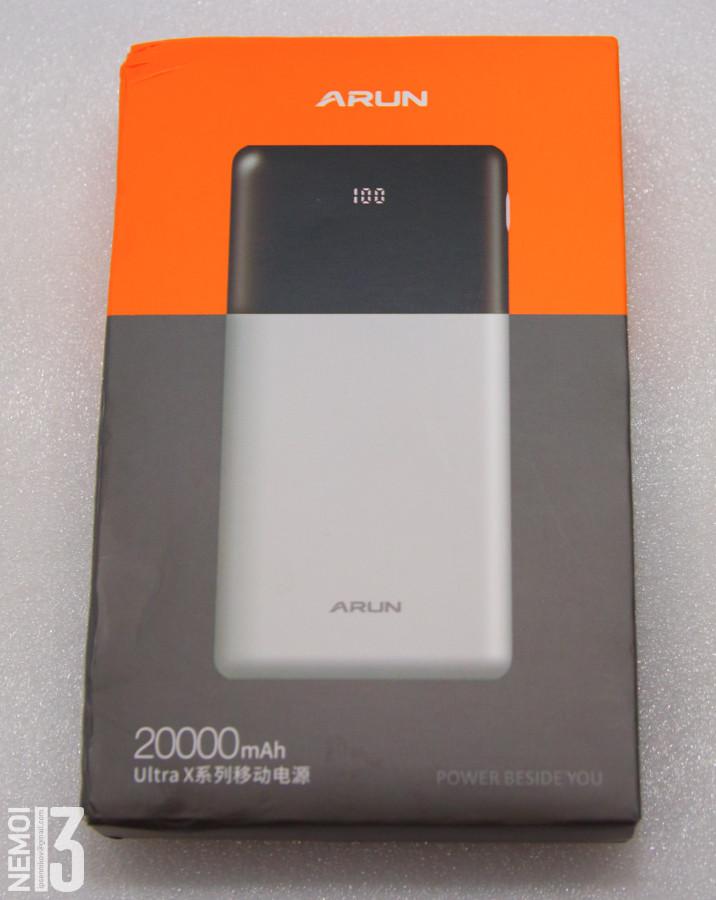 Повербанк Arun UX20. Тяжелый кирпич с честными 20 000mAh