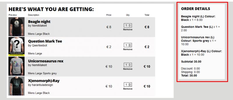 Футболка QWERTEE за 2 евро +схема экономии