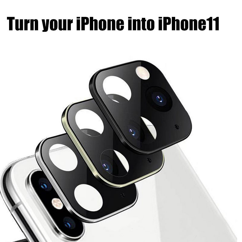 Накладка на камеру, превращающая старый десятый айфон в новейший одиннадцатый айфон. Цена 1.99$