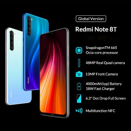 Глобальная версия Xiaomi Redmi Note 8T 3+32GB/4+64GB/4+128GB. Цена от 191.99$